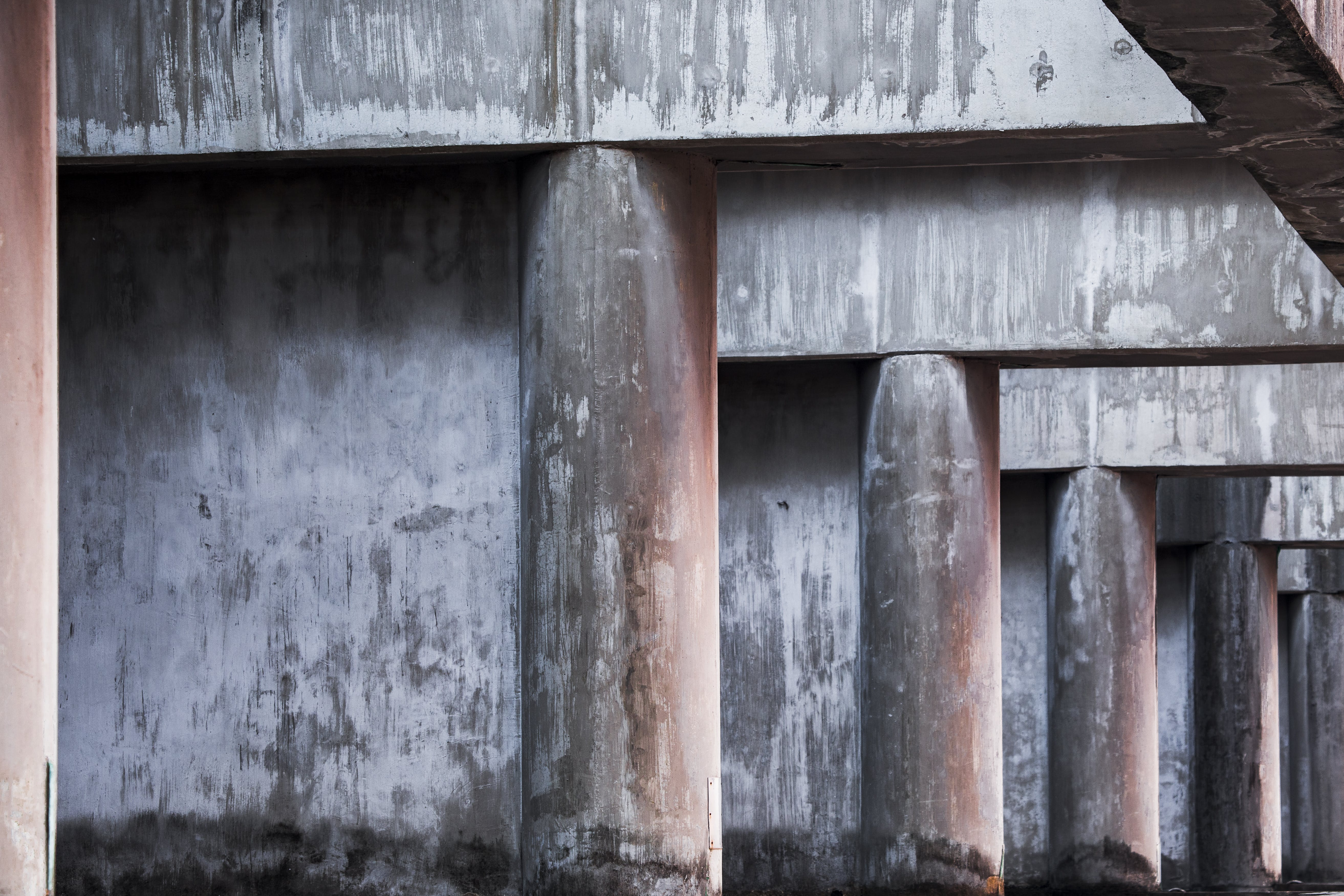 Gray Concrete Pillars