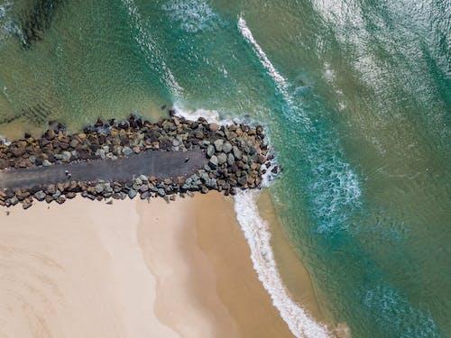 Foto stok gratis air, batu, fotografi drone, fotografi udara