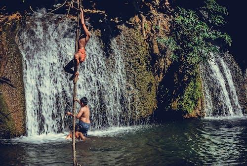Základová fotografie zdarma na téma denní světlo, dobrodružství, kanchanaburi, lezení