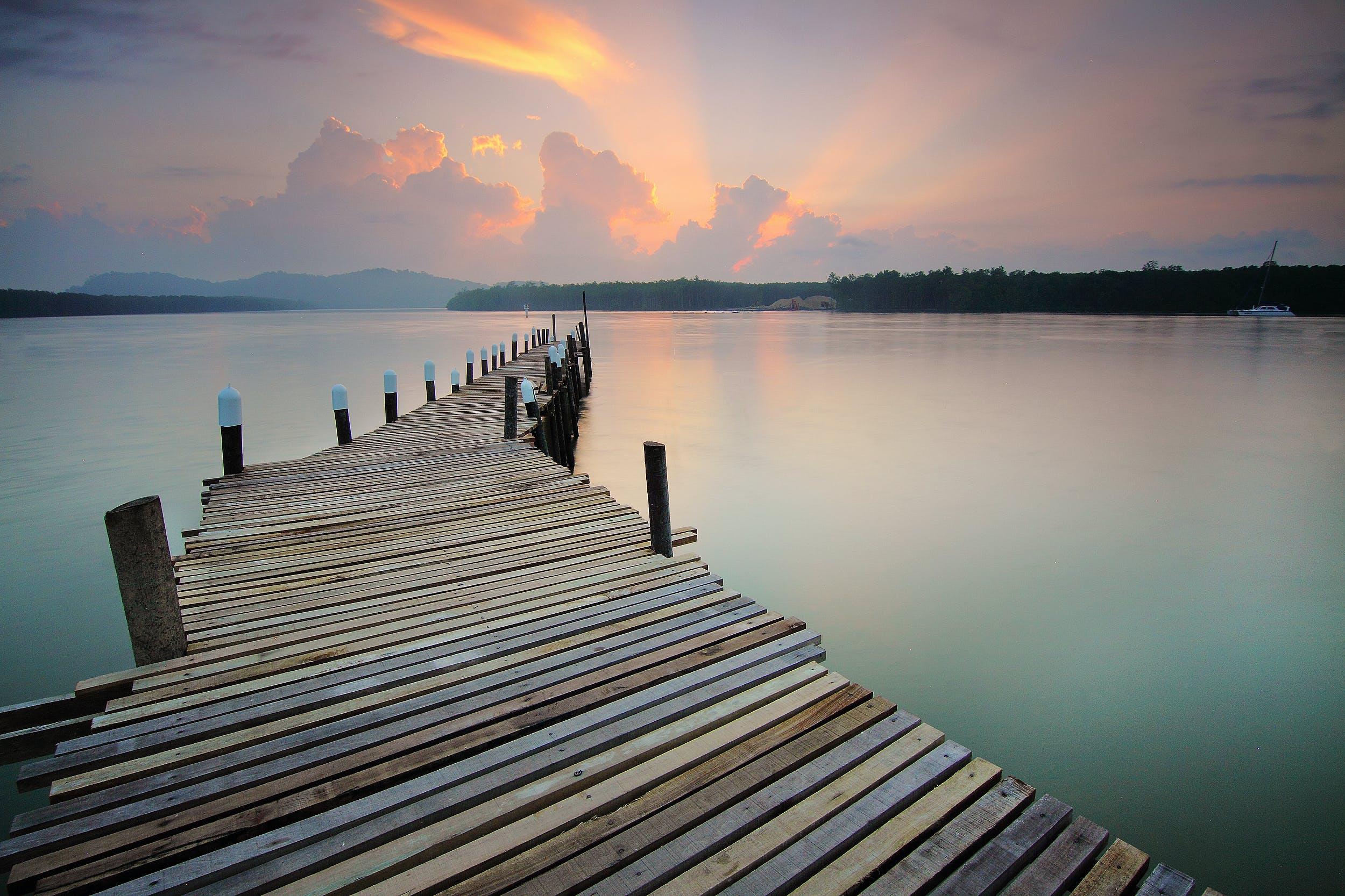 beach, calm waters, dawn