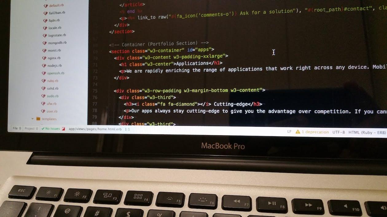 arbejde, bærbar computer, computer