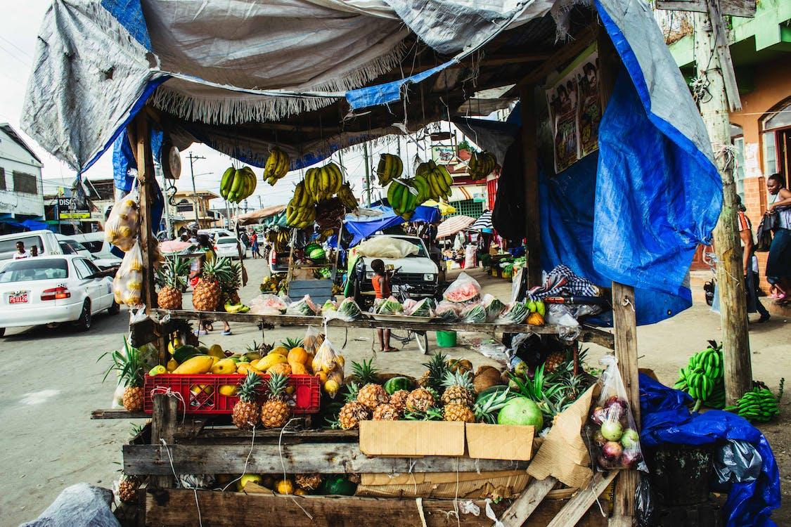 ovoce, prodávat, silnice