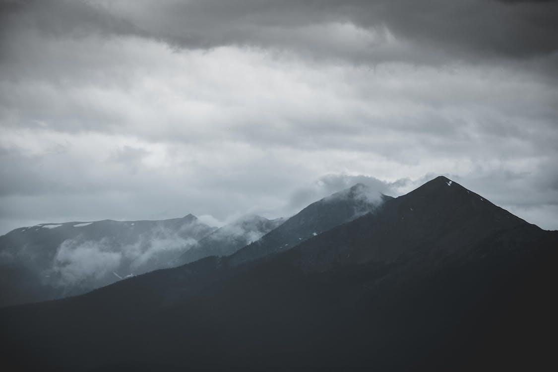 4k achtergrond, 4k bureaublad, berg