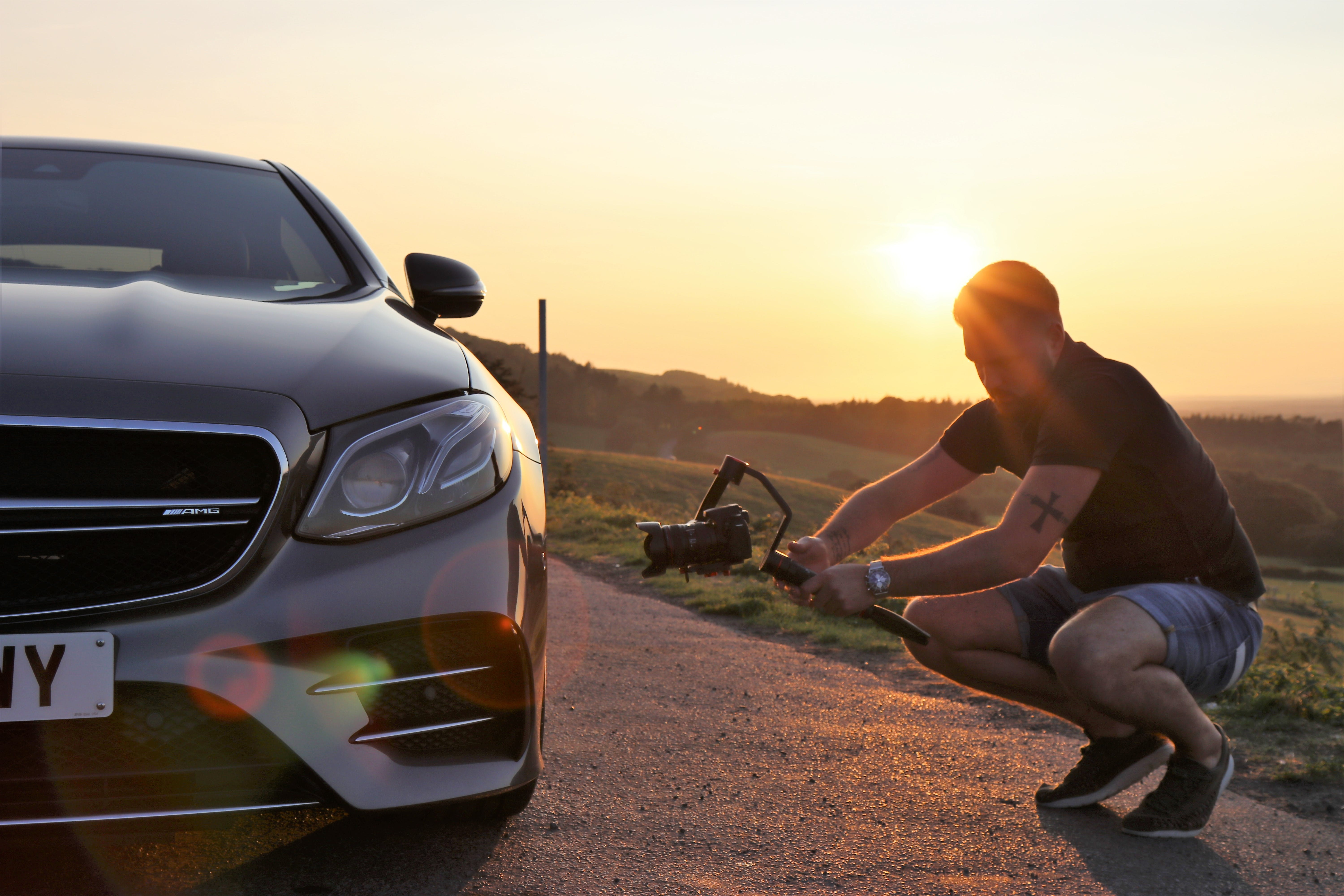 Free stock photo of filming, mercedes benz
