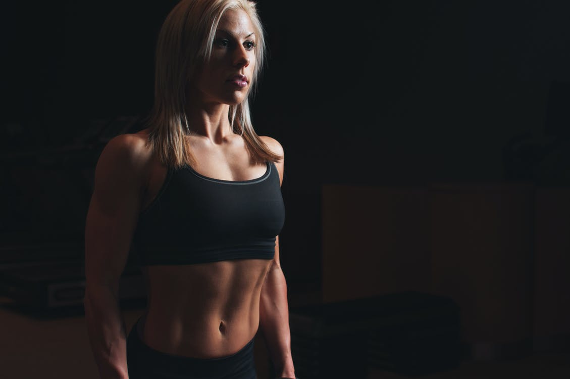 Woman Showing Her Abs