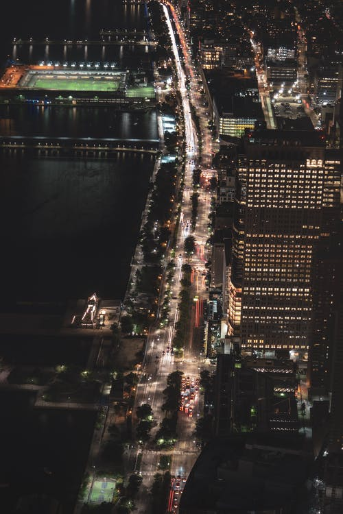 คลังภาพถ่ายฟรี ของ การจราจร, การเปิดรับแสงนาน, ถนน