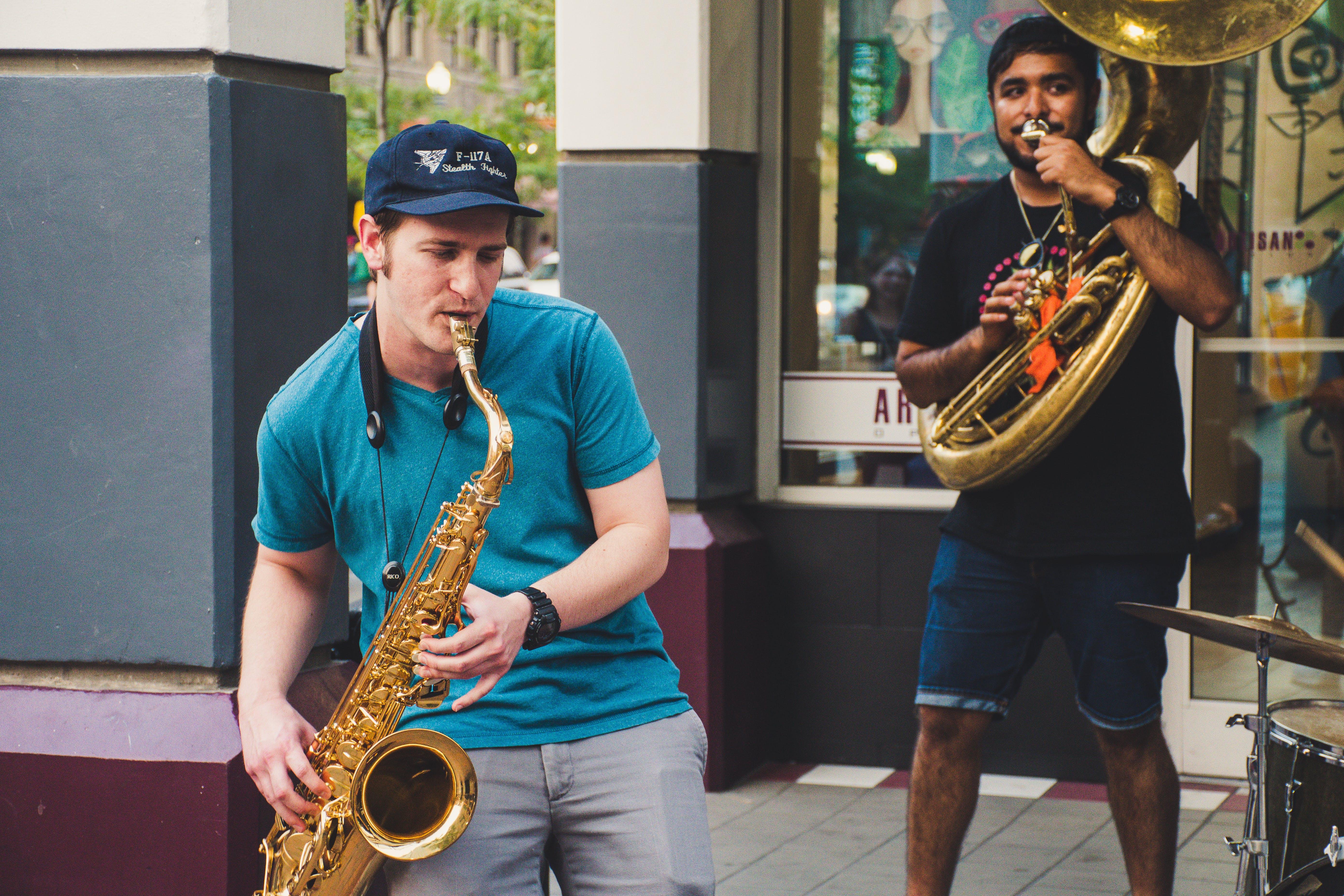 Gratis lagerfoto af band, dagtimer, folk, instrumenter