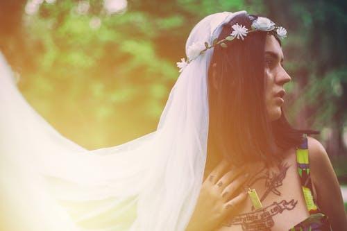 aşındırmak, düğün, duvak, güze içeren Ücretsiz stok fotoğraf