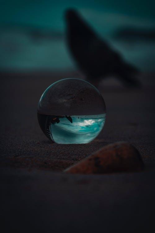 Gratis stockfoto met drinkglas, macro, reflectie, strand
