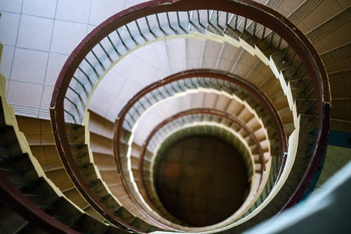 Top-view Photo of Spiral Stairs