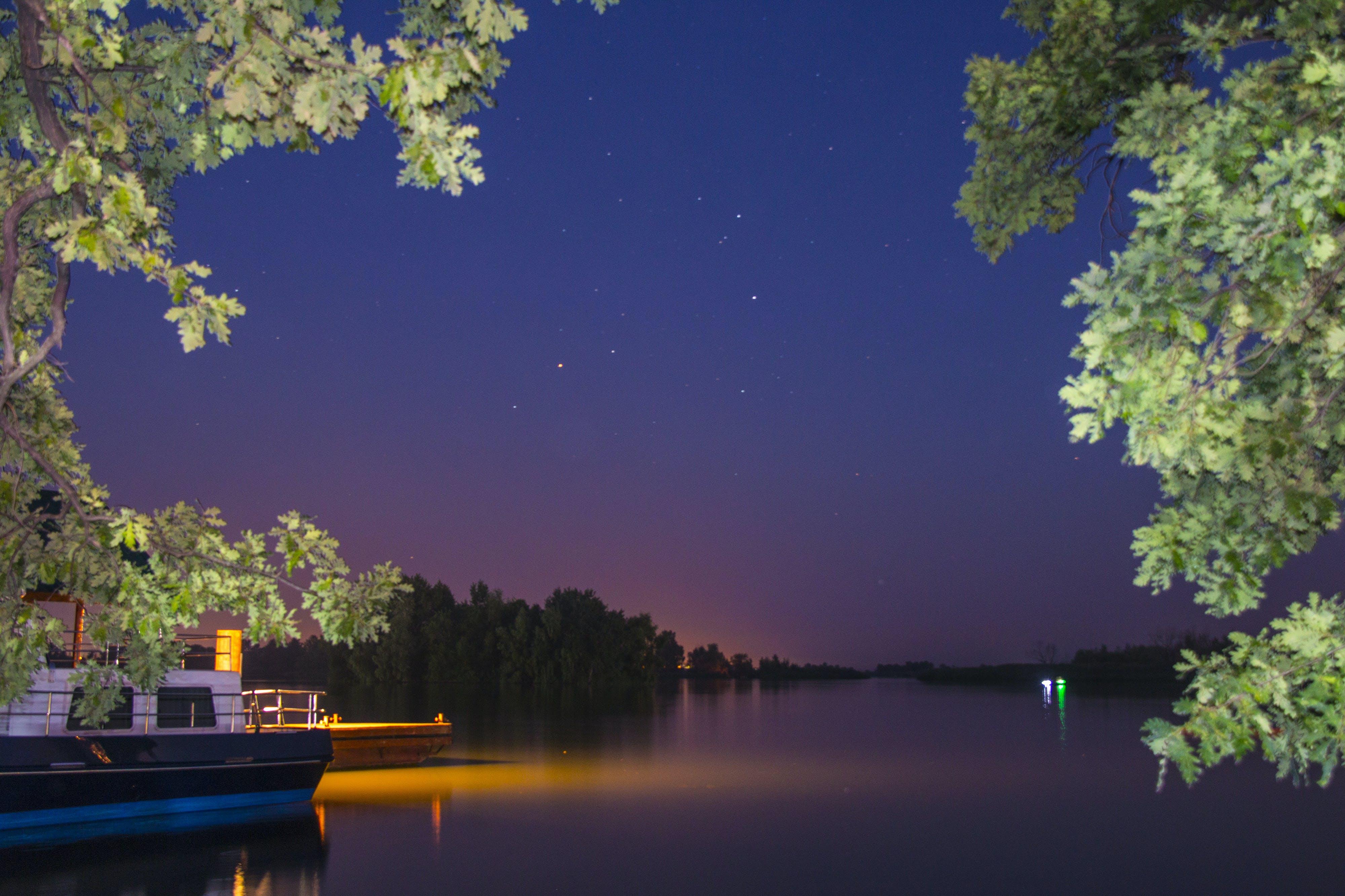 Free stock photo of night, night city, night lights, river