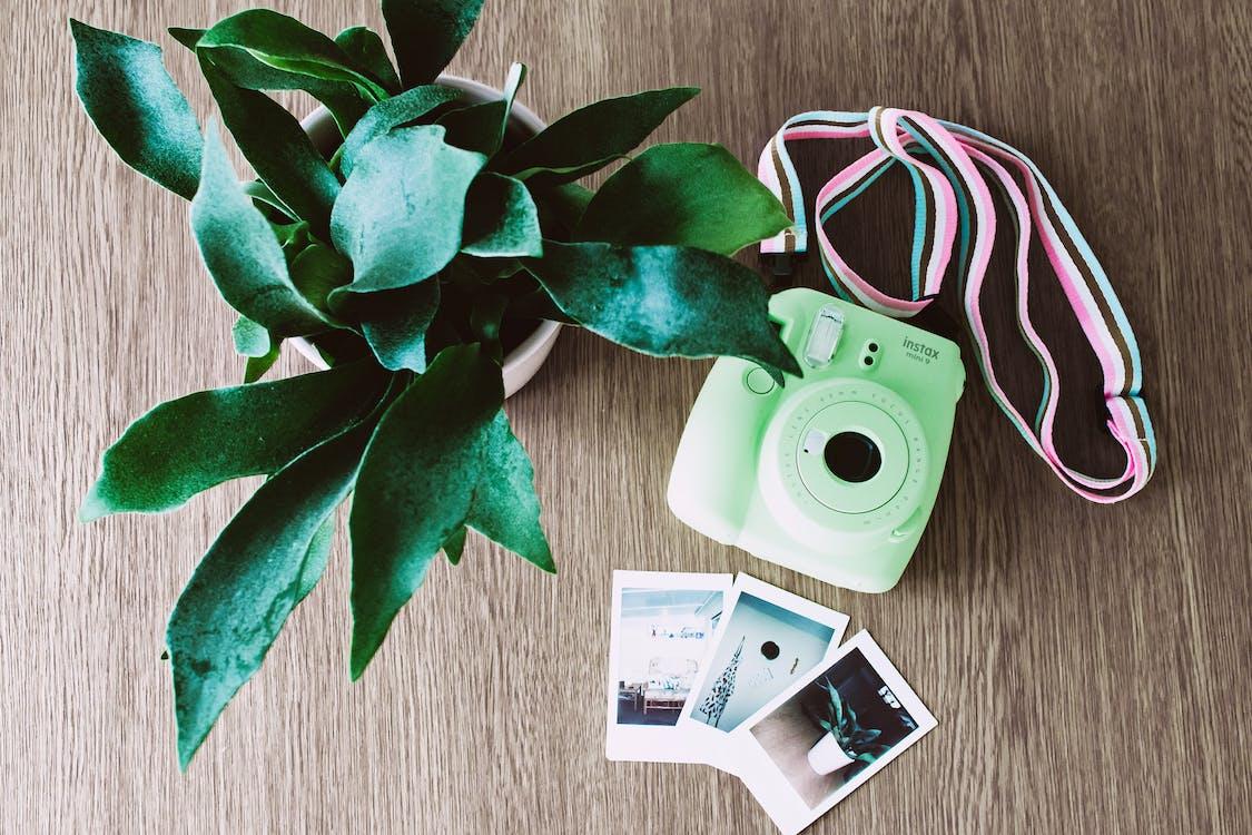 White Fujifilm Intax Mini Camera