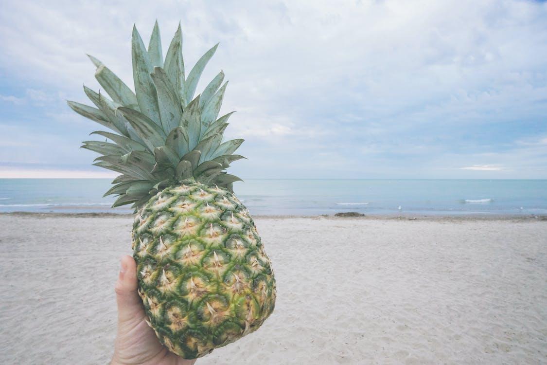 ananas, daumen, frucht