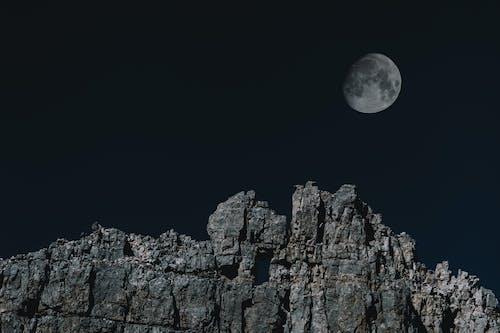 Fotobanka sbezplatnými fotkami na tému astronómia, čierny abiely, HD tapeta, hora