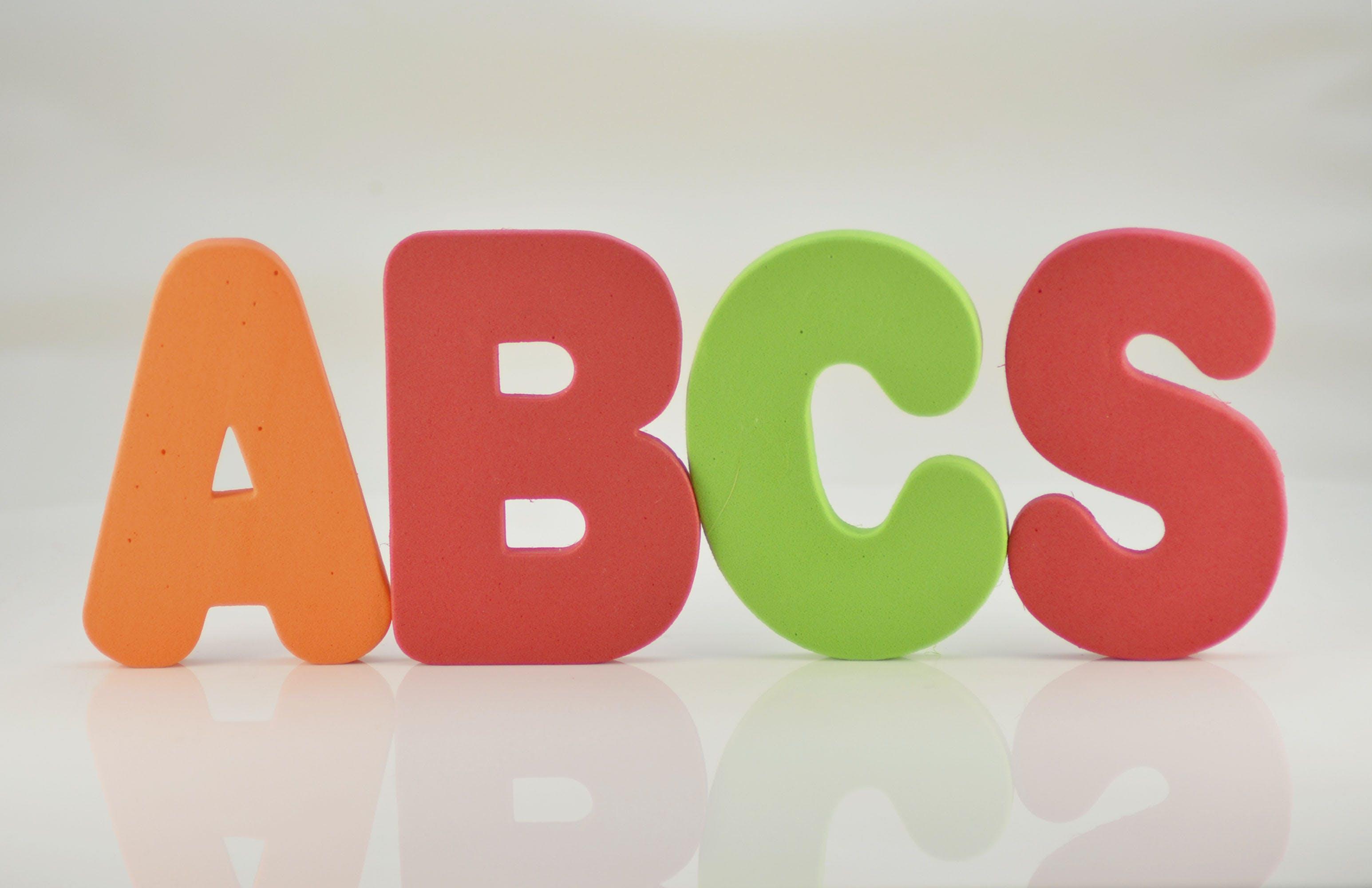 Gratis lagerfoto af abc, abcs, alfabet, børnehave