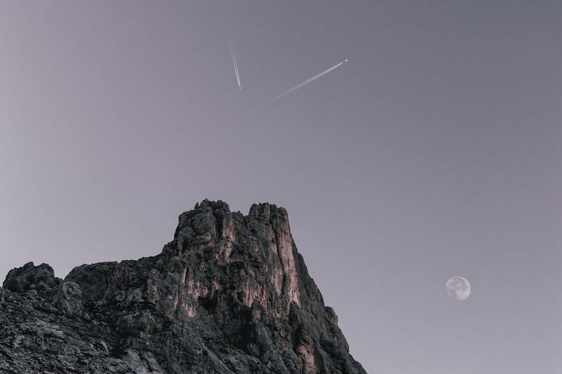 auringonlasku, HD-taustakuva, kallio