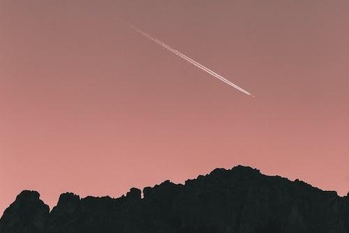 Imagine de stoc gratuită din apus, avion, backlit, ceață