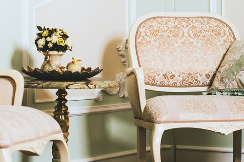 Accent Chair Near Marble Top Table