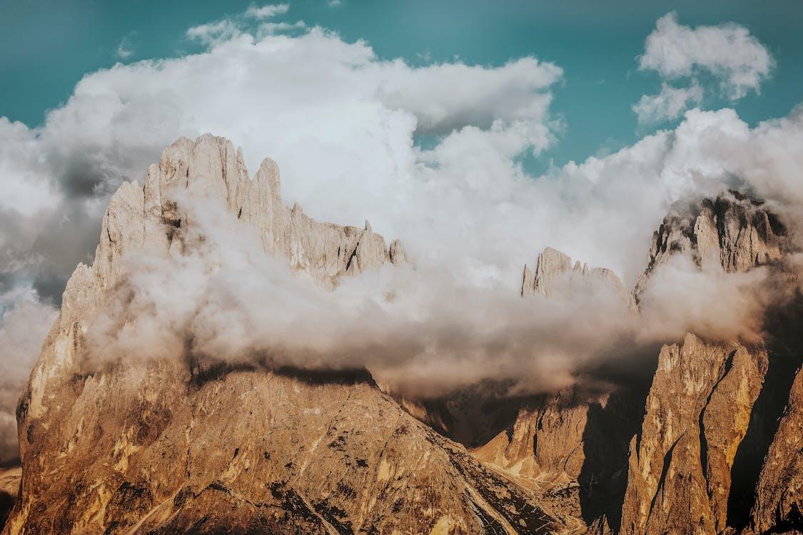 berg, dagsljus, dolomiterna