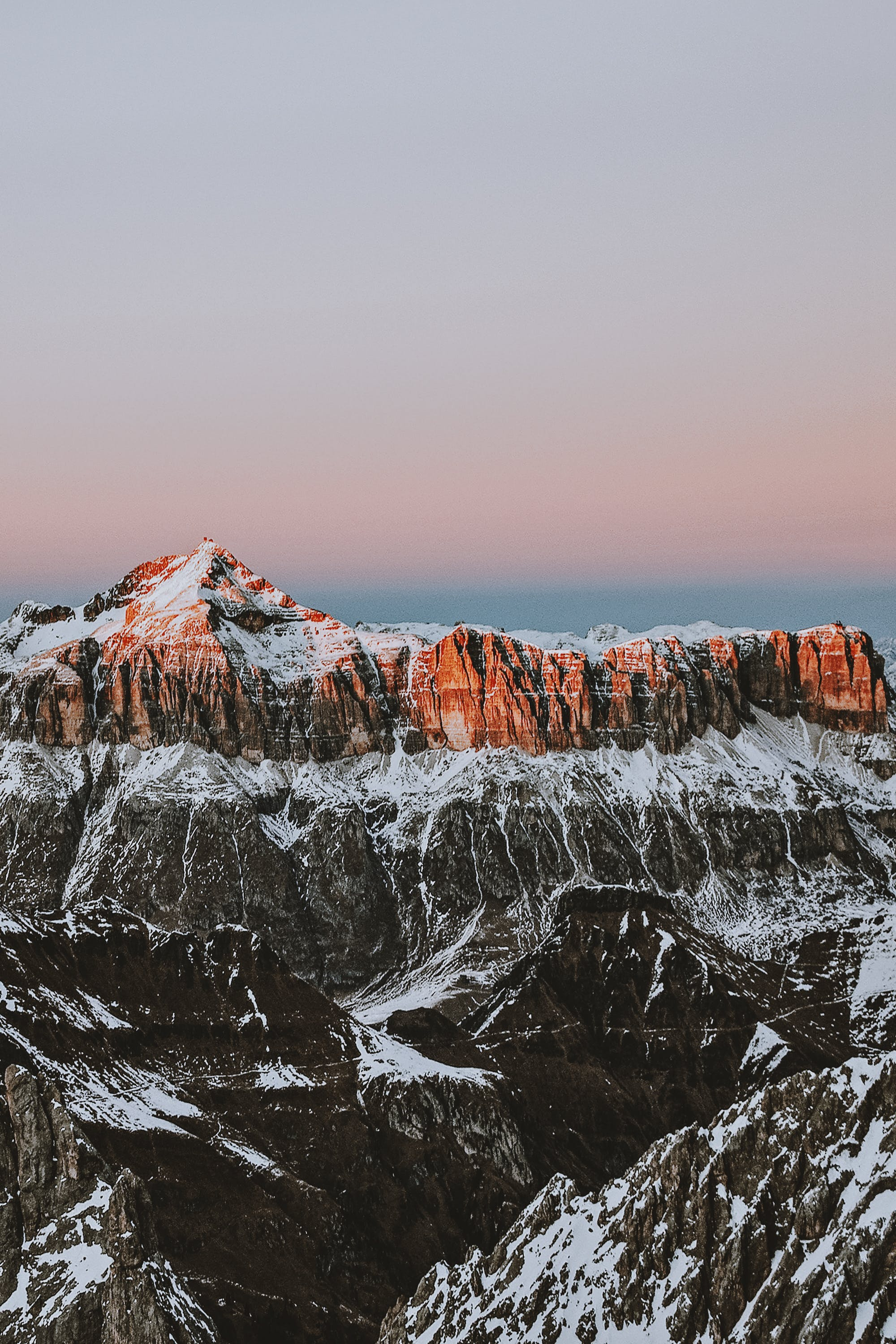 Photography Of Mountain During Sunrise
