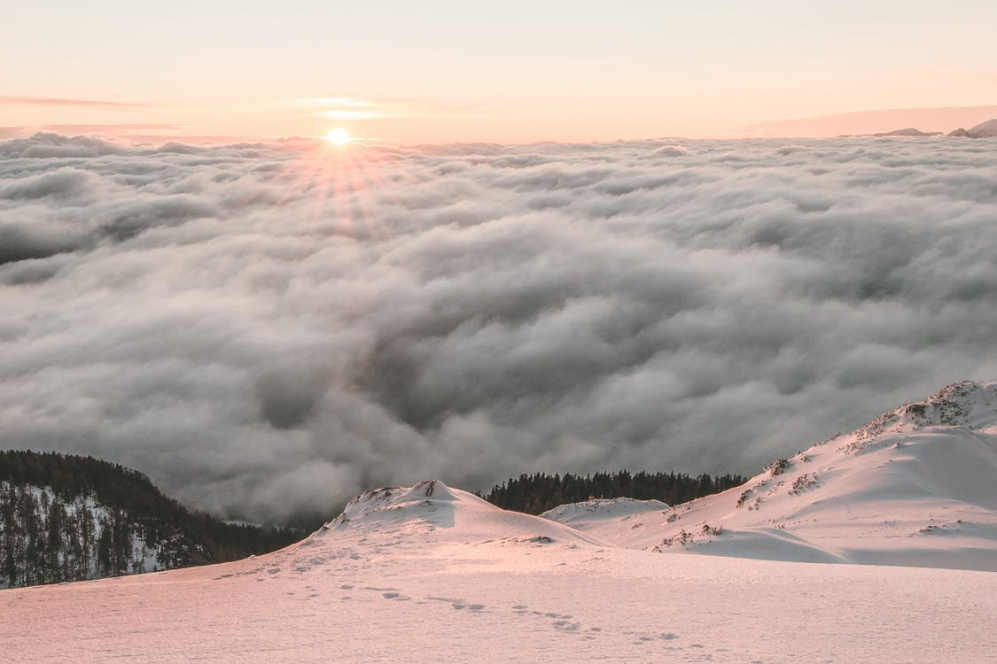 Sea of Clouds Beside Mountain