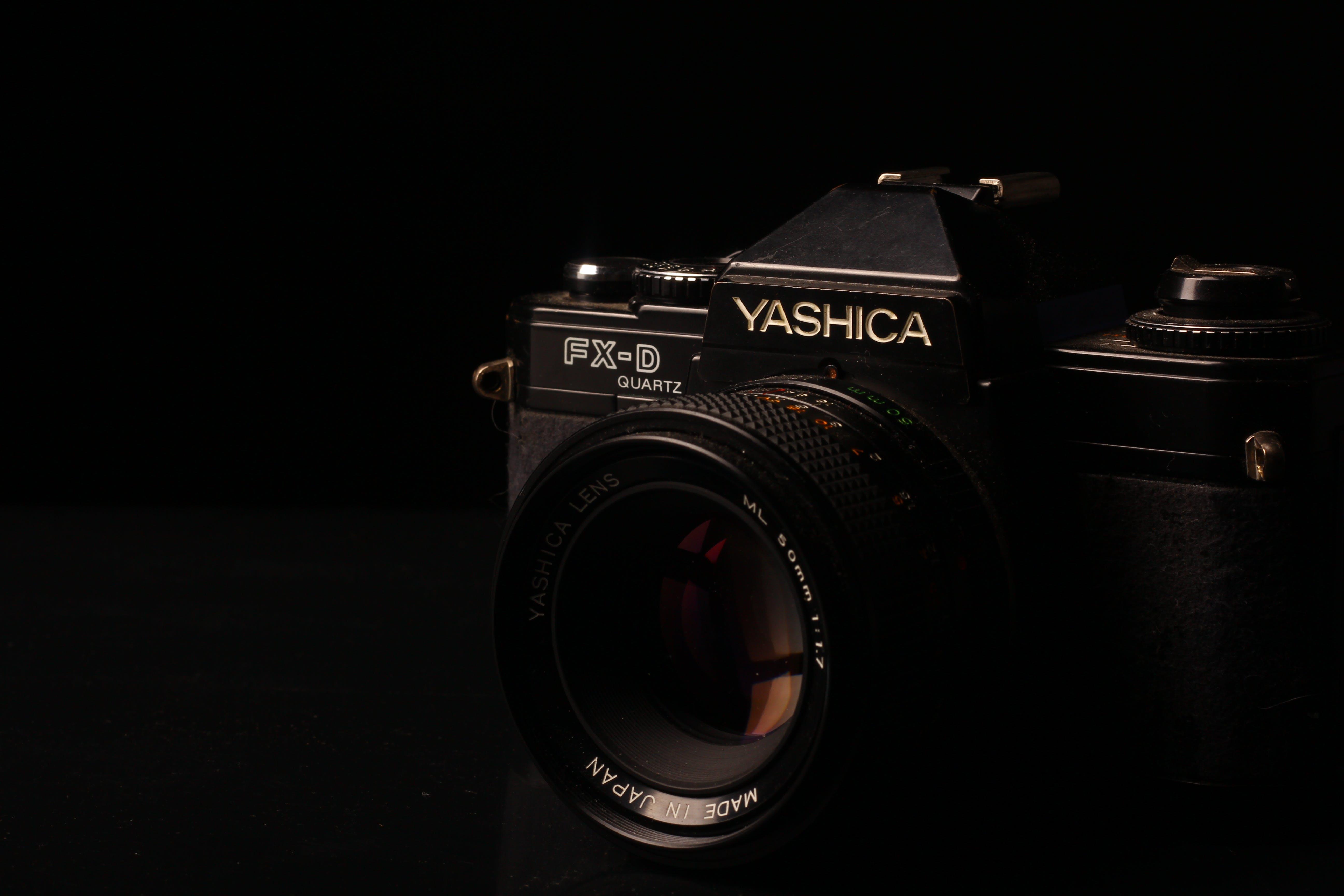 Close-up Photo of Black Yashica FX-D Camera