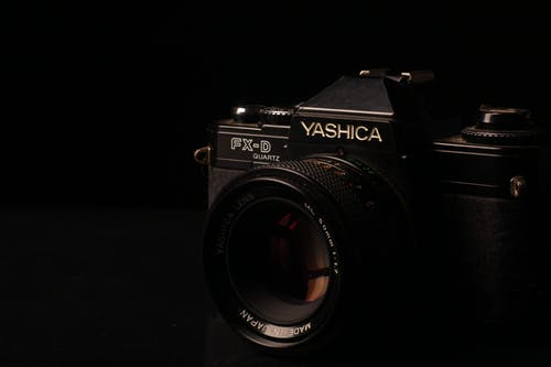 Close-up Photo of Black Yashica FX-D Camera