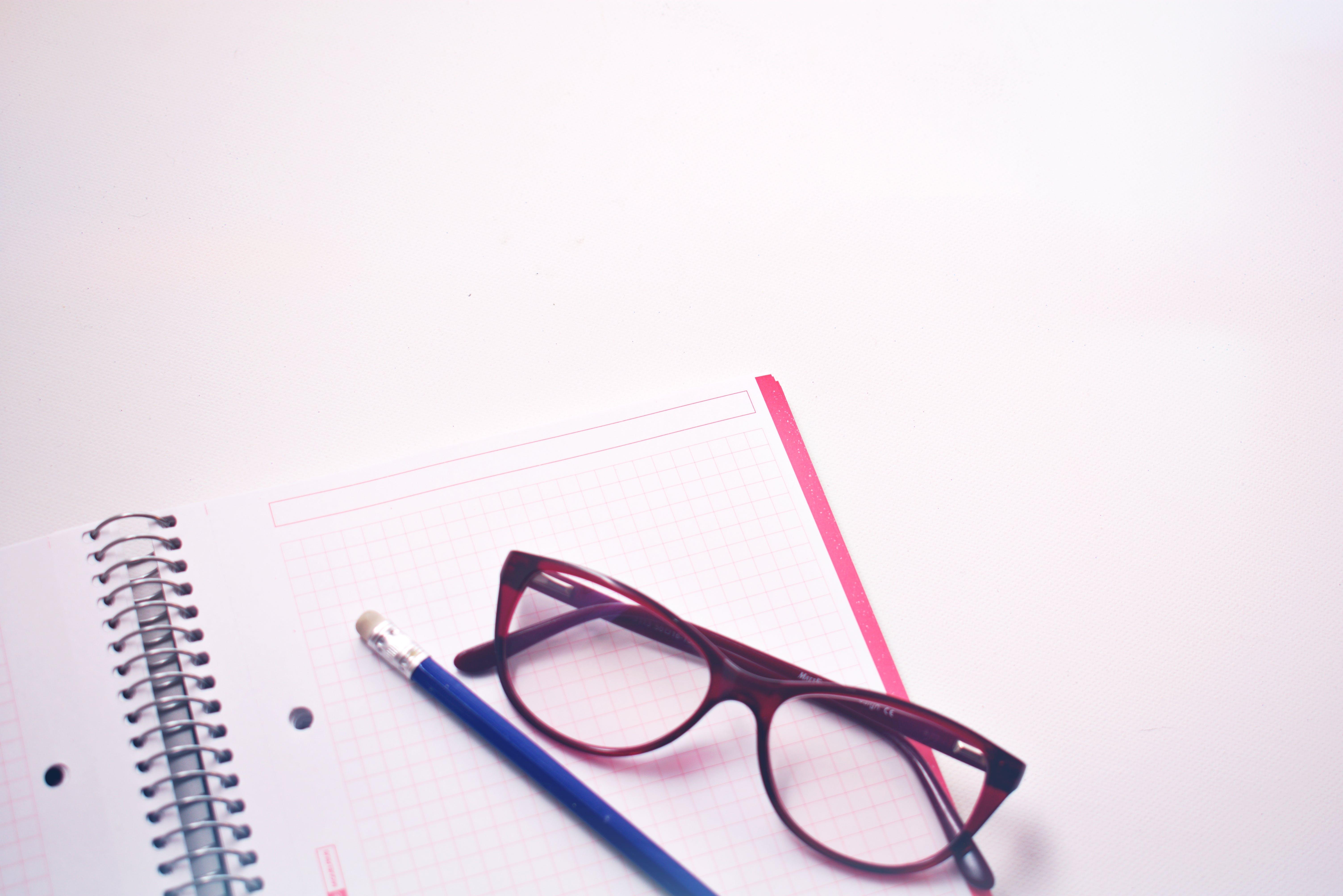 Eyewear On Notebook