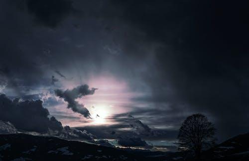 Darmowe zdjęcie z galerii z burza, chmury, ciemny, darmowa tapeta