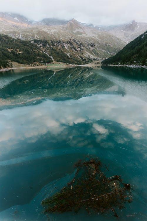 HD-taustakuva, heijastus, järven ranta