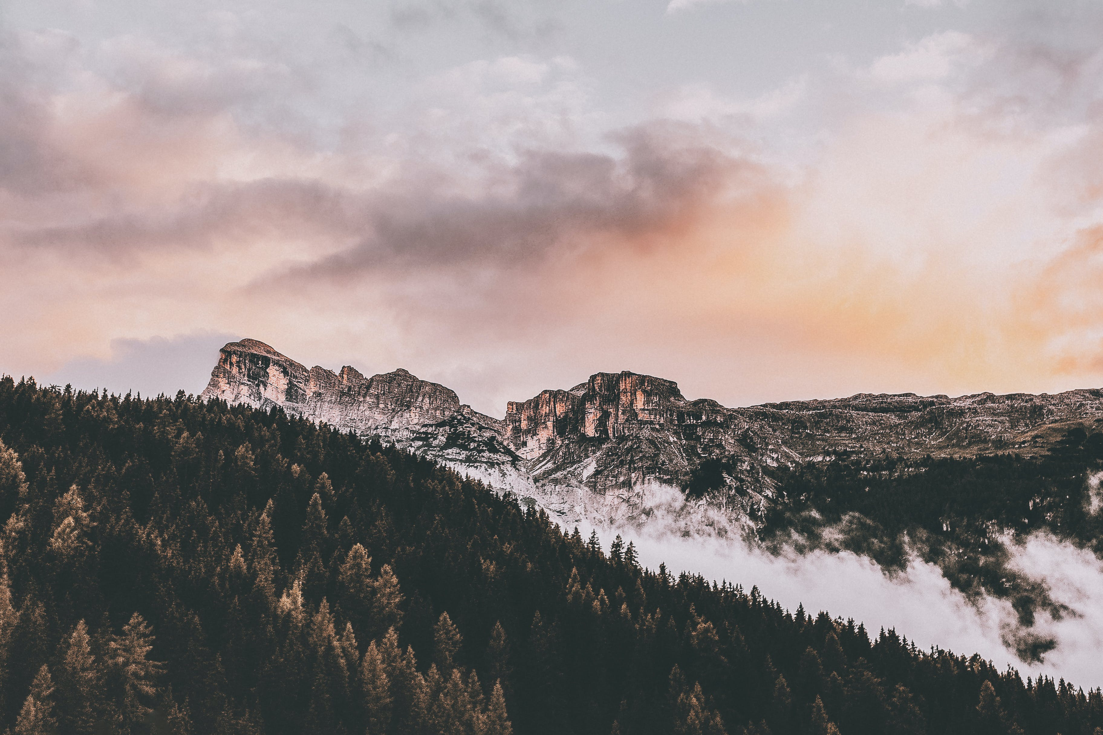 bjerg, dagslys, desktop tapet