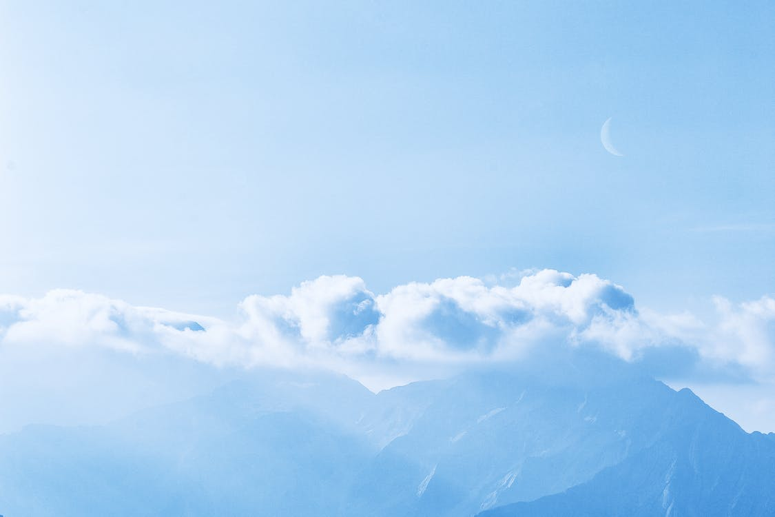 atmosfære, bjerg, desktop tapet
