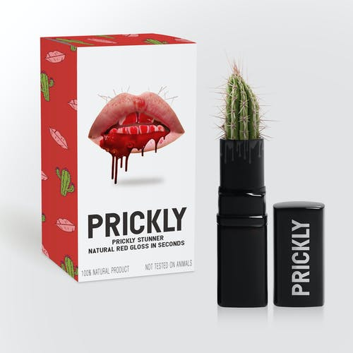 Prickly Red Gloss Lipstick With Box