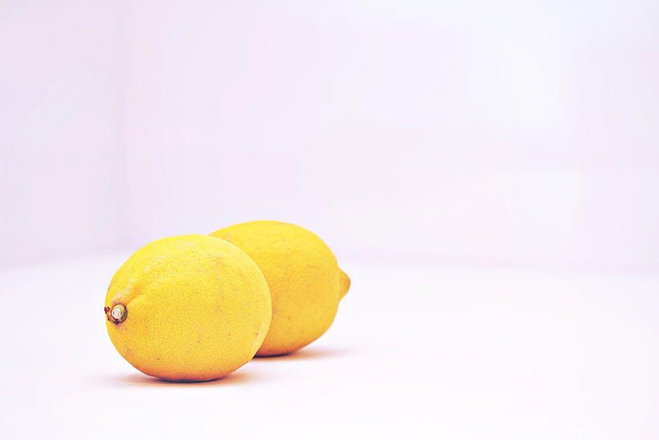 Two lemon fruits