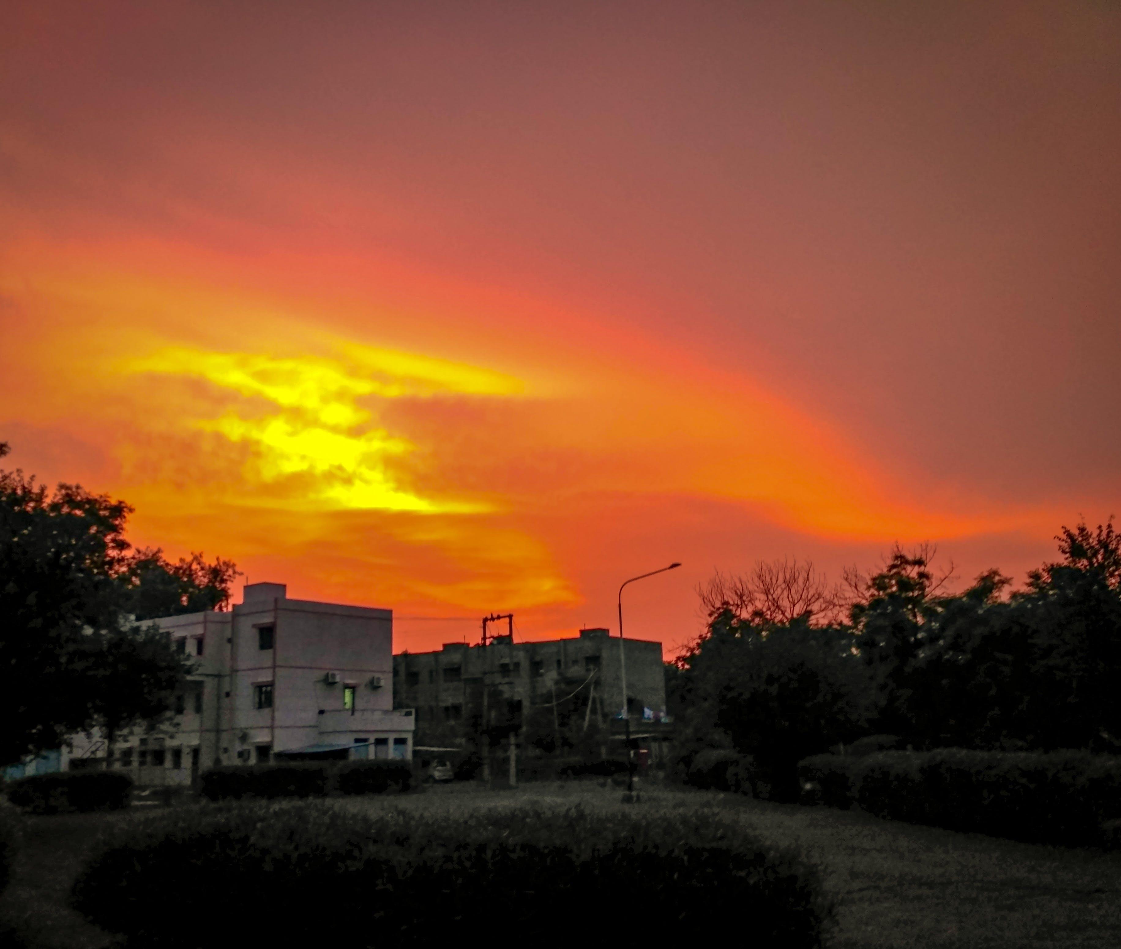 Free stock photo of goldan, sun, sunset