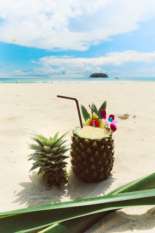 Photo of Pineapple on Sand