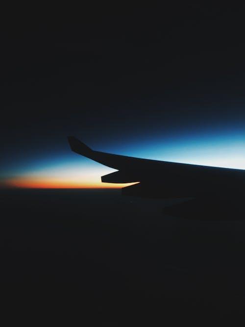 Základová fotografie zdarma na téma let, modrá obloha, obloha, oranžová obloha