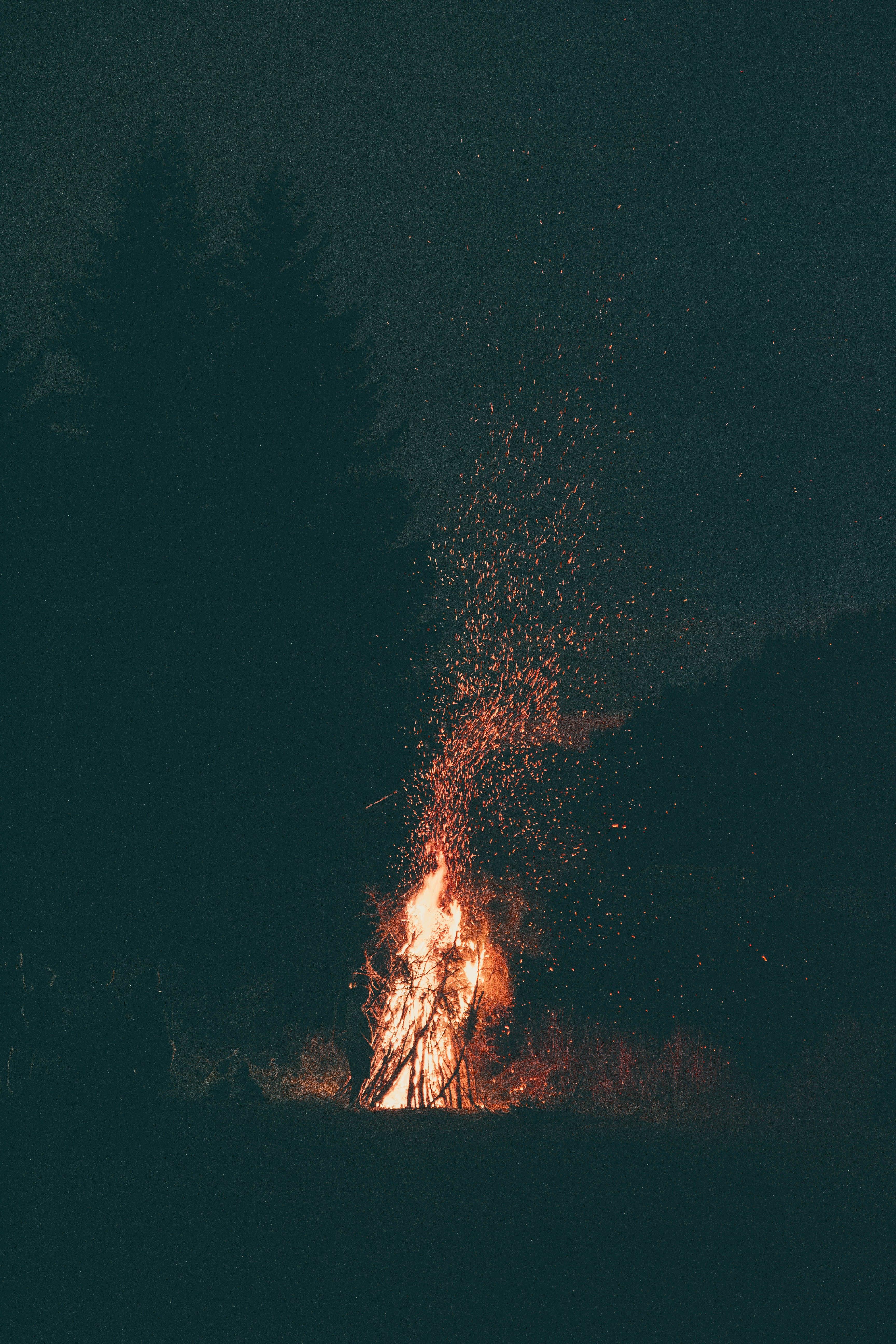 คลังภาพถ่ายฟรี ของ กลางคืน, ความร้อน, มืด, ไฟ