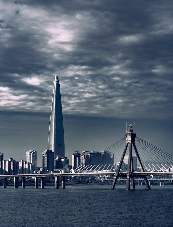 các tòa nhà, cảnh quan thành phố, cầu