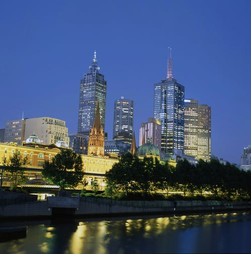 Free stock photo of city lights, melbourne, night lights, night photography