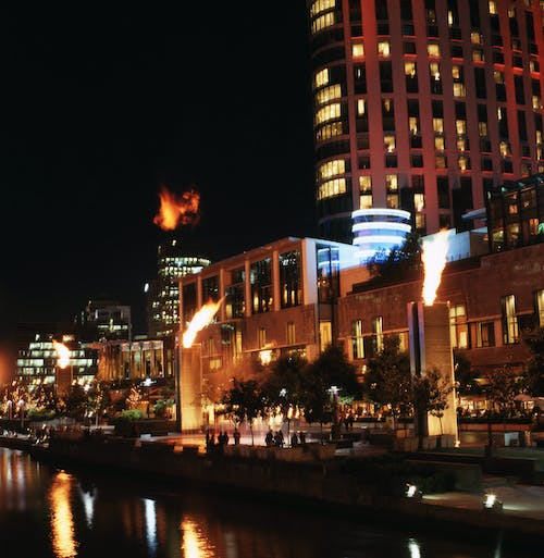 Free stock photo of flames, melbourne, night life, night lights