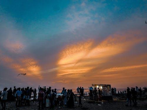 Immagine gratuita di aquilone, folla, spiaggia