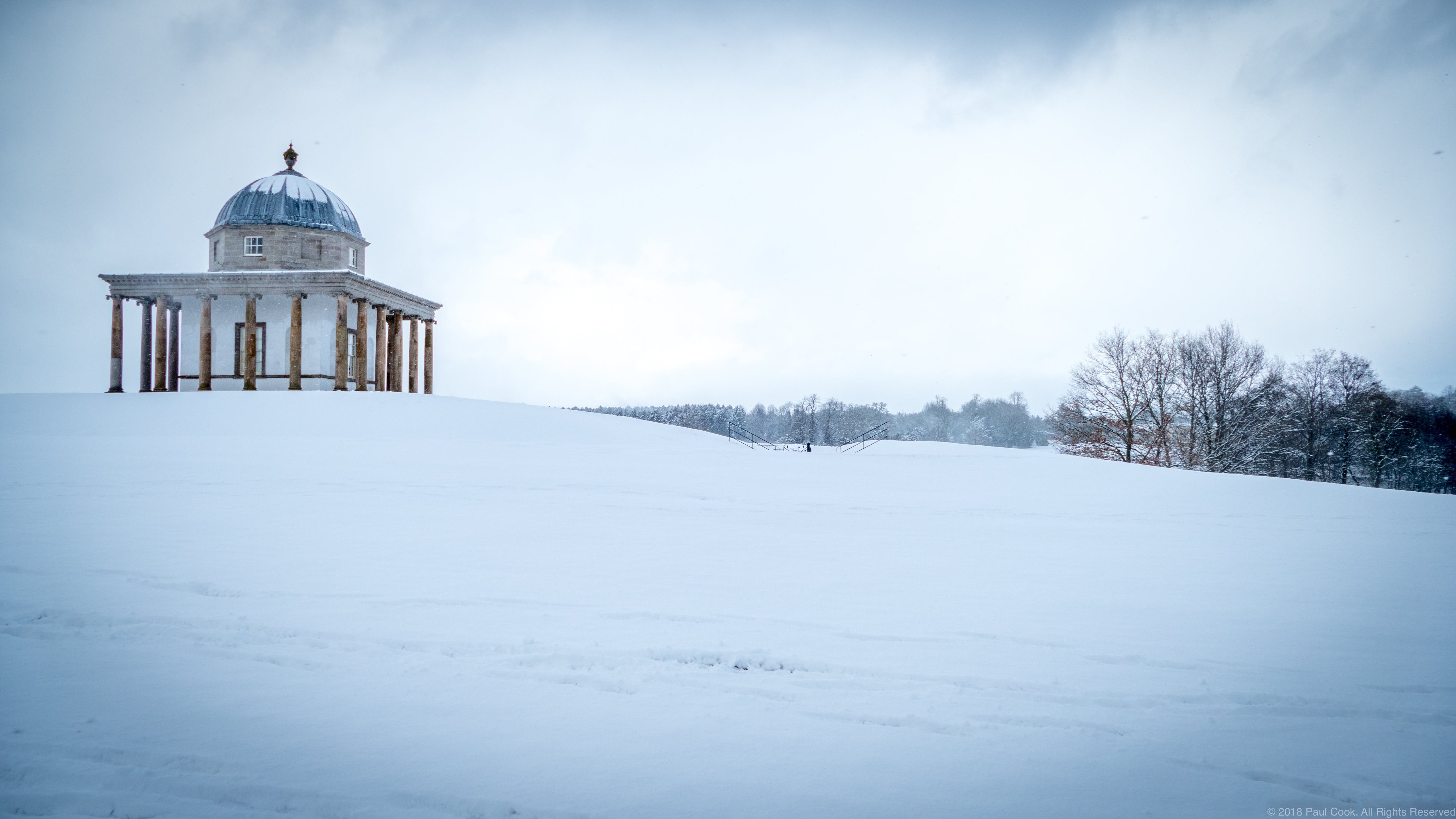 Free stock photo of folly, hardwick park, snow, winter