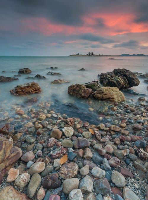 Základová fotografie zdarma na téma kameny, krajina, moře, mraky
