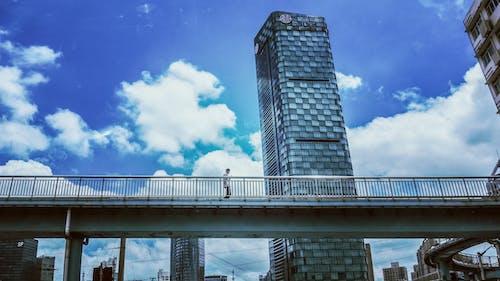 Foto profissional grátis de arranha-céu, pessoas, transgredir, Xangai