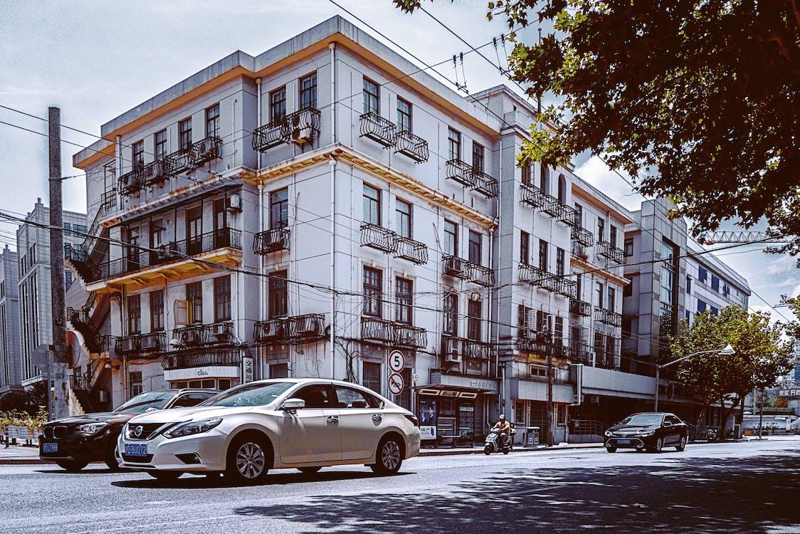arhitectură, autoturisme, clădire