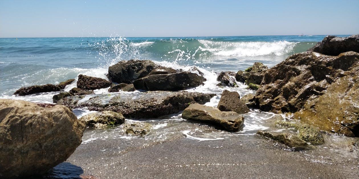 地中海, 岩, 晴天