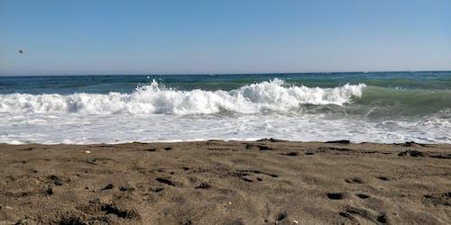 Gratis stockfoto met blauw, blauwe lucht, geribbelde vorm, golven