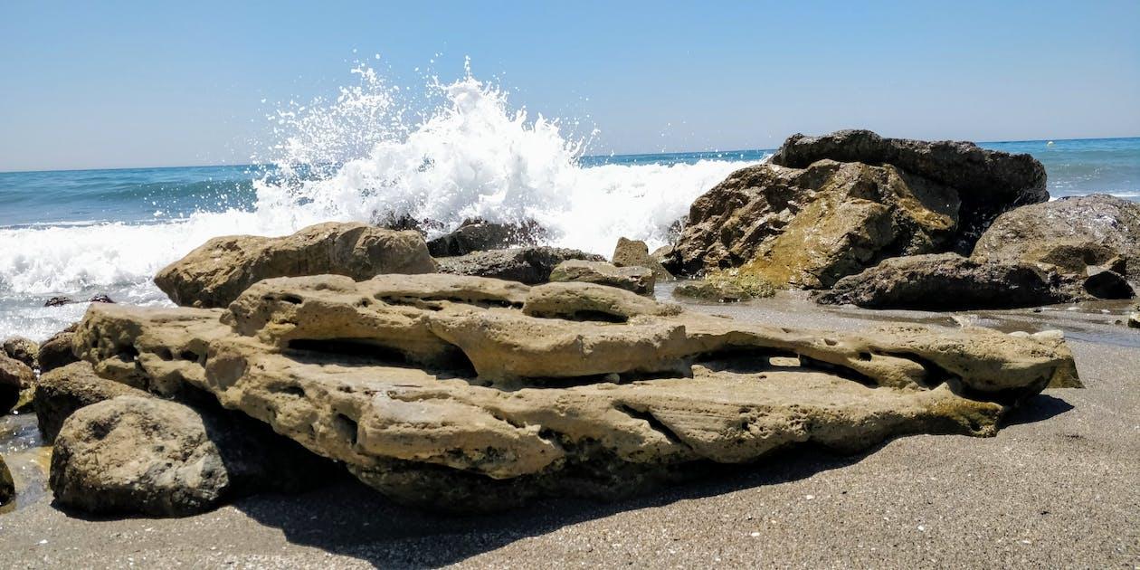 地中海, 岩石, 招手