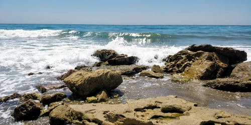 地中海, 岩石, 招手, 晴朗的天空 的 免费素材照片